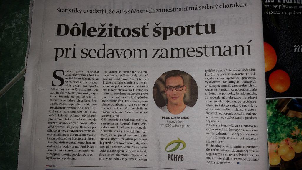 Ľuboš Gsch - vyjadrenie profesionálneho osobného trénera. Dôležitosť športu pri sedavom zamestnaní