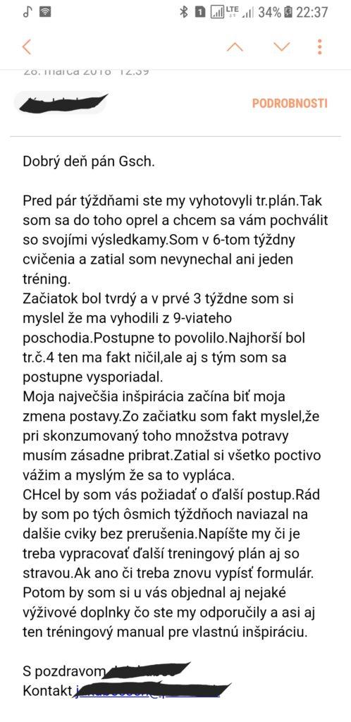 Referencia na tréningový a stravovací plán na mieru pohyb.sk