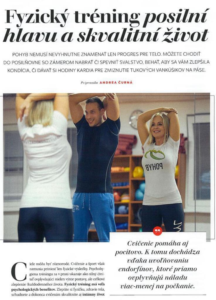 Fyzický tréning posilní hlavu a skvalitní život